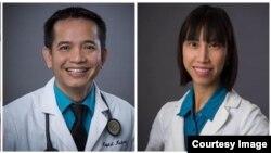 Bác sĩ Tiền Võ và Y sĩ Vy Nguyễn, Trung tâm Y khoa Võ, Calexico, California.