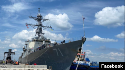 Американський ракетний есмінець USS Ross в Одесі для участі в навчаннях «Сі Бриз 2021»