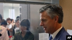 Jon Huntsman, the U.S. Ambassador to China in Tibet (FILE).