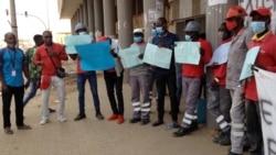 Trabalhadores da ENDE em greve em Malanje