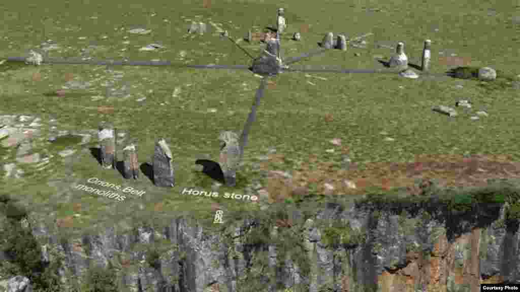 Tellinger investigates ancient stone structures, such as these in South Africa (Courtesy Ubuntu Party)