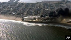 Fire Ravages New Jersey Shore Boardwalk