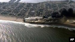 Fire Ravages New Jersey Shore Boardwalk