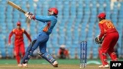 Chikwata cheZimbabwe Cricket chichitamba nechikwata cheAfghanistan muna 2016. / AFP PHOTO / Prashant Bhoot