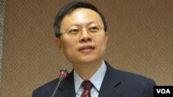 台湾新任陆委会主委王郁琦(美国之音记者 张永泰拍摄)