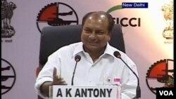 بھارتی وزیر دفاع اے کے اینٹونی