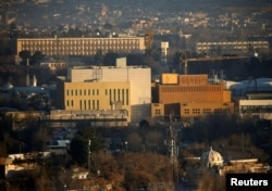 FILE - View of the U.S. Embassy (front buildings) in Kabul, Afghanistan, Jan. 20, 2016.