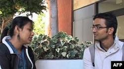 南加大校园里的国际学生