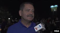 """Jesús """"Chuy"""" García, congresista de Illinois, habló con la Voz de América sobre las matanzas en El Paso, Texas, y Dayton, Ohio. Foto: imagen tomada de video."""