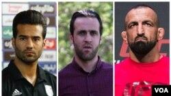 از راست: رضا مددی، علی کریمی و مسعود شجاعی