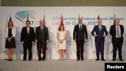 七國集團(G7)外長4月11日於義大利資料照。