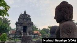 Canci Pawon di Magelang, sepi pengunjung di tengah proyek pemerintah menjadikan kawasan sekitar Borobudur menjadi wisata unggulan.(Foto: VOA/Nurhadi)