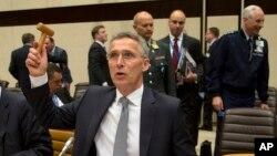 Tổng thư ký NATO Jens Stoltenberg chủ trì một cuộc họp của Hội đồng Bắc Đại Tây Dương tại trụ sở của NATO ở Brussels, ngày 20/5/2016.
