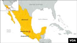 Map: Acapulco, Mexico.