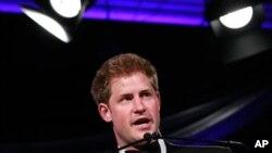 英國哈里王子星期一出席華盛頓的頒獎晚宴