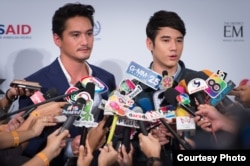 "Director Ananda Everingham and actor Mario Maurer at the IOM X Press Launch for ""Prisana,"" Sept. 15, 2015. (IOM)"