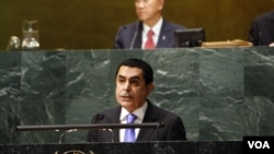 Perwakilan Tetap Watar untuk PBB, Nassir Abdulaziz Al-Nasser (depan) terpilih sebagai pemimpin Rapat Tahunan PBB ke 66 yang akan dibuka hari ini, Selasa, 20 September 2011 (foto:dok).