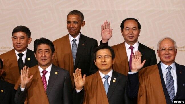 Chủ tịch Việt Nam Trần Đại Quang tại hội nghị thượng đỉnh APEC ở Peru cuối năm 2016.