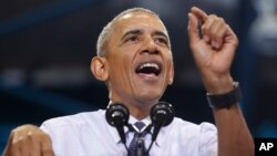 Obama pide a los votantes en Florida que no esperen al día de la elección para salir a votar. Obama seguirá haciendo campaña por Clinton durante los próximos días.