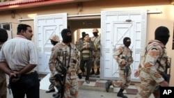 2015年3月11日巴基斯坦准军事部队在卡拉奇突查统一民族运动办事处