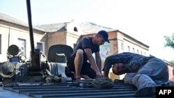 Proruski pobunjenici u Donjecku, 31.avgust 2014.