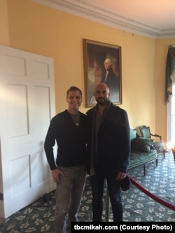 At Hamilton Grange National Memorial, which preserves the home of founding father Alexander Hamilton, Mikah got to spend time with Nicholas Christopher who plays George Washington in the hugely successful Broadway musical Hamilton.