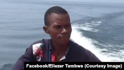 Eliezer Ntambwe, journaliste-présentateur, RDC, 22 décembre 2014. (Facebook/Eliezer Tambwe)