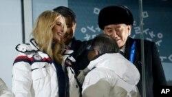 Ivanka Trump, la fille du président américain, et le représentant de la Corée du Nord, Kim Yong Chol, à la clotûre des JO en Corée du Sud, le 25 février 2018.