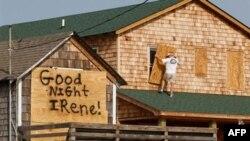 Северная Каролина с юмором готовится к прибытию «Айрин»