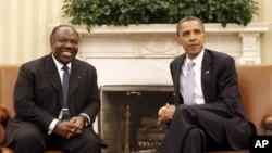 Le chef de l'Etat gabonais, Ali Bongo et le président américain Barack Obama (ARCHIVES)