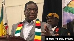 Zimbabwe President Emmerson Mnangagwa in New York