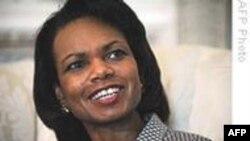 کاندوليزا رايس: آمريکا بايدهميشه باصدای بلند از دمکراسی سخن گفته و از آن دفاع کند