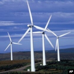 Turbinas eólicas capturam a energia do vento