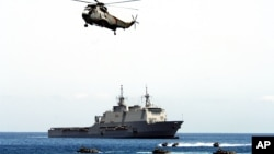 Kikosi cha NRF-Nato Response Force kikifanya uangalizi wakati wa mazoezi ya ndege za NATO huko Sao Vicente, Cape Verde.
