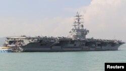 미 해군 항공모함 로널드 레이건 호.