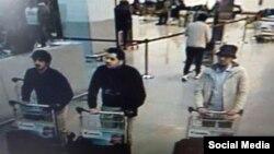 تصاویر ویدئویی از مظنونان احتمالی انفجارهای فرودگاه بروکسل.