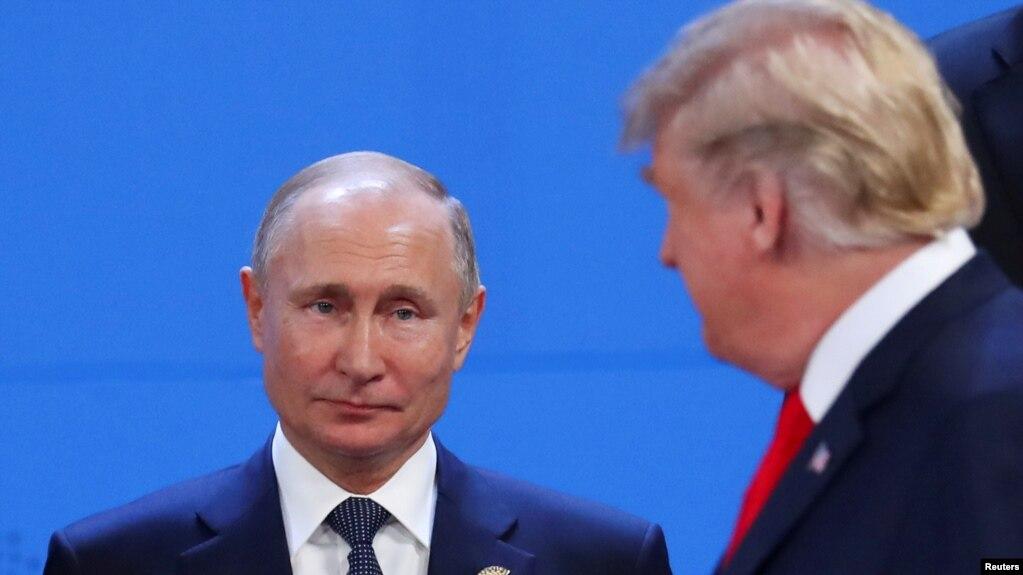 Tổng thống Nga và Mỹ tại hội nghị thượng đỉnh G20 ở Argentina hôm 30/11.