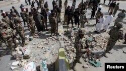 巴基斯坦西南部奎達城8月11日被襲後資料照。