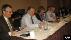 Во время дискуссии в Колумбийском университете