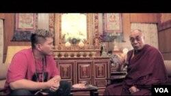 台灣台南饒舌歌手大支將自己和西藏流亡精神領袖達賴喇嘛的對話放在最新推出音樂視頻內(視頻截圖)