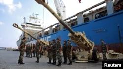 نیروهای نظامی لبنان در شهر بیروت