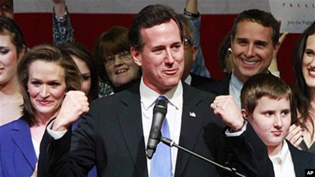 Republican presidential candidate, former Pennsylvania Sen. Rick Santorum (File Photo)