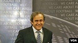 Presiden UEFA Michel Platini.