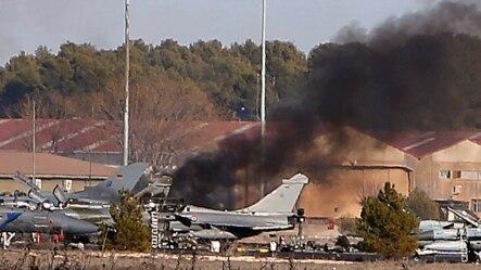 一架希腊战机在西班牙坠毁