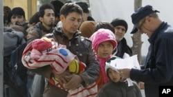 Des migrants en Macédoine