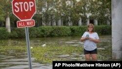 Последствия тропического шторма в городе Мэндевилл, штат Луизиана. 13 июля 2019 г.