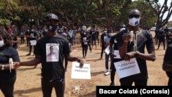 Manifestação em Bissau contra a morte do rapper e activista Bernardo Mário Catchurá, 1 Fevereiro 2021