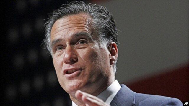 Republican presidential candidate Mitt Romney, speaks at the NALEO (National Association of Latino Elected and Appointed Officials) conference in Orlando, Florida, June 21, 2012 (AP).