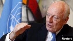 Ông Staffan de Mistura - đặc sứ LHQ về Syria - trong cuộc phỏng vấn với Reuters tại trụ sở LHQ ở Geneve hôm 1/3/2016.