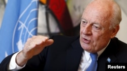 U.N. special envoy for Syria, Staffan de Mistura, said Monday that the only alternative to peace talks is continued conflict.